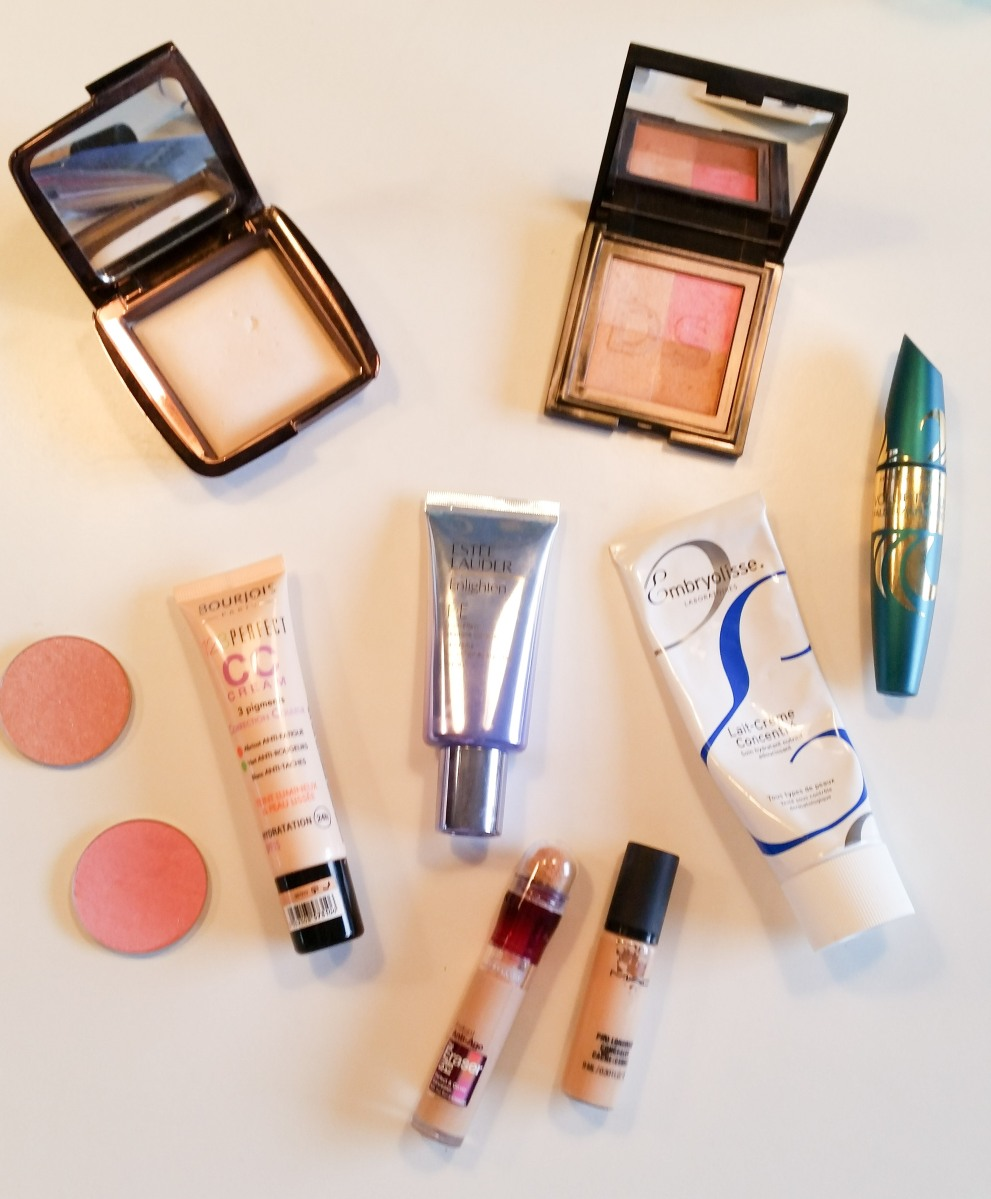 My top 10 makeup products.