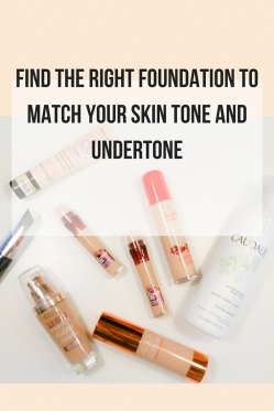 Find the right foundation to match your skin tone and undertone