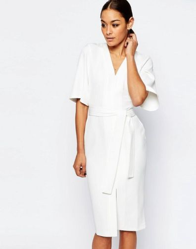 Curvy girl white dress